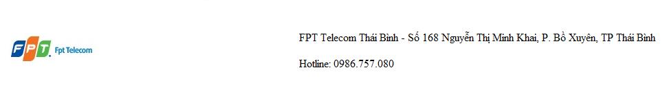 Công ty Cổ phần Viễn thông FPT – FPT Telecom Thái Bình
